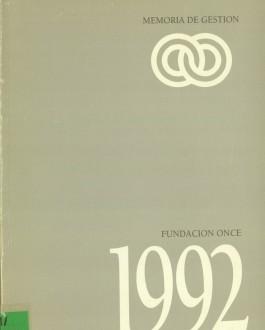Portada Memoria de Fundación ONCE (1992)