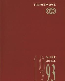 Portada  Memoria de Fundacion ONCE (1993)