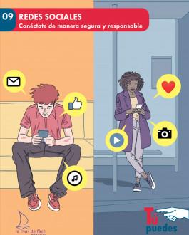 Portada Redes sociales. Conéctate de manera segura y responsable