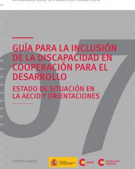 Portada Guía para la inclusión de la discapacidad en la cooperación para el desarrollo. Estado de Situación en la AECID y Orientaciones