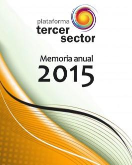 Portada Plataforma tercer sector: memoria anual 2015