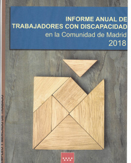 Portada Informe anual de trabajadores con discapacidad en la Comunidad de Madrid 2018