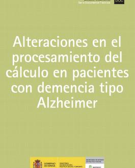 Portada lteraciones en el procesamiento del cálculo en pacientes con demencia tipo Alzheimer