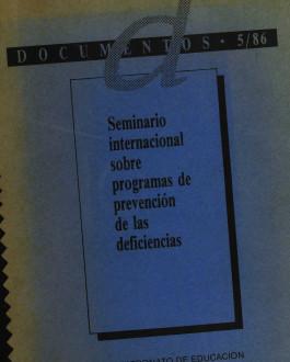 Portada Seminario internacional sobre programas de prevención de las deficiencias
