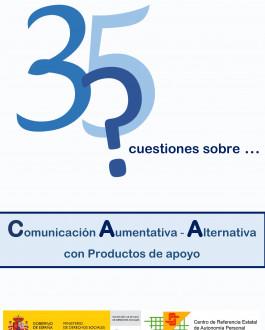 Portada 35 cuestiones sobre Comunicación Aumentativa – Alternativa con productos de apoyo