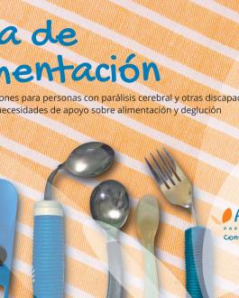 Portada Guía de recomendaciones para personas con parálisis cerebral y otras discapacidades con grandes necesidades de apoyo sobre alimentación y deglución