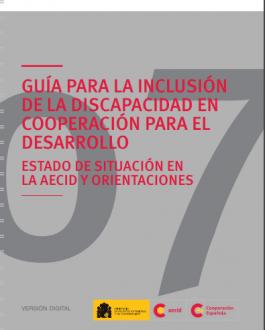 Portada Guía para la inclusión de la discapacidad en cooperación para el desarrollo. Estado de situación en la AECID y orientaciones