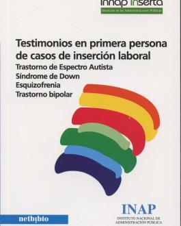 Portada del Libro Testimonios en primera persona de casos de inserción laboral trastorno de espectro autista