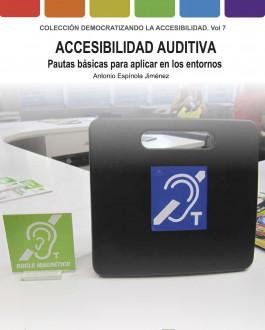 Portada Accesibilidad auditiva. Pautas básicas para aplicar en los entornos