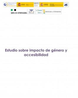 portada estudio sobre impacto de género y accesibilidad