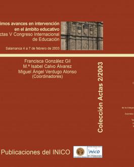 Portada Ultimos avances en intervención en el ámbito educativo: actas V congreso internacional de educación