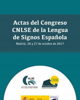 Portada Actas del Congreso CNLSE de la Lengua de Signos Española