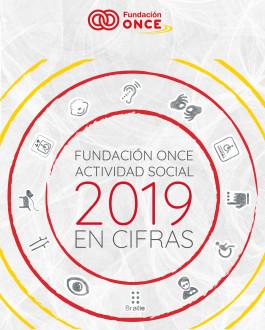 Portada Fundación ONCE. Actividad social en cifras (2019)