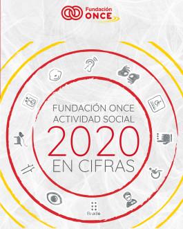 Portada Fundación ONCE. Actividad social en cifras (2020)