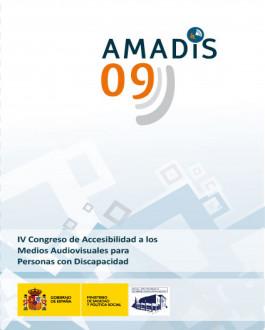 Portada CD Amadis 09: IV congreso de accesibilidad a los medios audiovisuales para personas con discapacidad
