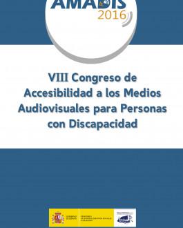 Portada VIII Congreso de accesibilidad a los medios audiovisuales para personas con discapacidad