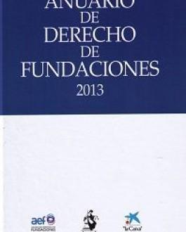 Portada del Anuario de derecho de fundaciones (2013)