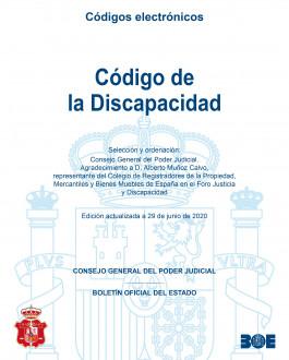 POrtada Código de la discapacidad. Edición actualizada a 29 de junio de 2020