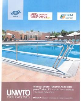 Portada del Libro Manual sobre Turismo Accesible para Todos (Módulo V)  Buenas prácticas de turismo accesible