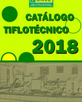 Portada CIDAT. Catálogo Tiflotécnico 2018