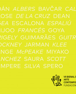 Portada Catálogo VII Bienal de Arte Contemporáneo Fundación ONCE