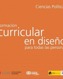 portada de la publicación Formación curricular en diseño para todas las personas en Ciencias Políticas