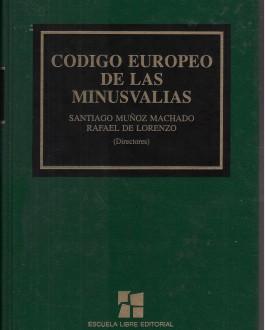 Portada del libro Código Europeo de las Minusvalías