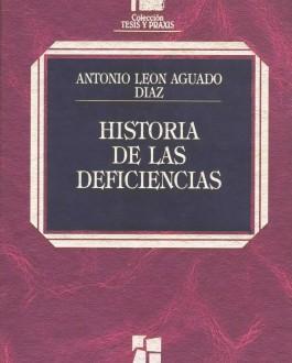 Portada del libro Historia de las deficiencias