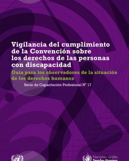 Portada del Libro Vigilancia del cumplimiento de la Convención sobre los derechos de las personas con discapacidad Guía para los observadores de la situación de los derechos humanos