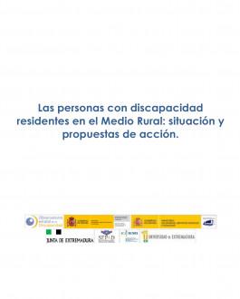 Portada Las personas con discapacidad residentes en el Medio Rural: situación y propuestas de acción
