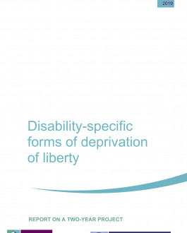 Disability-specific forms of deprivation of liberty