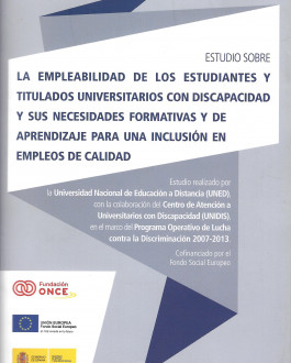 Portada CD Estudio sobre la empleabilidad de los estudiantes y titulados universitarios con discapacidad y sus necesidades formativas y de aprendizaje para una inclusión en empleos de calidad