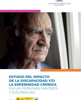 cubierta Estudio del impacto de la discapacidad y/o la enfermedad crónica en las personas mayores y sus familias