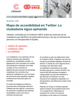 Portada Mapa de accesibilidad en Twitter: La ciudadanía sigue opinando (informe anual)