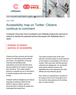 Accessibility map on Twitter: Citizens continue to comment