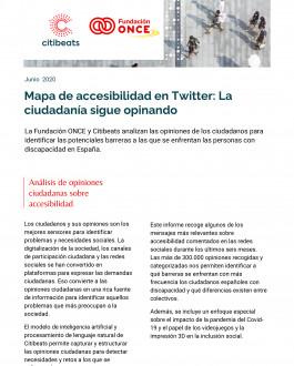Portada Mapa de accesibilidad en Twitter: La ciudadanía sigue opinando