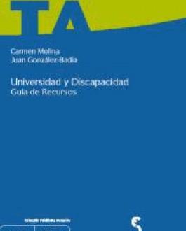 Portada del Libro Universidad y discapacidad: guía de recursos