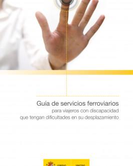 Portada Guía de servicios ferroviarios para viajeros con discapacidad que tengan dificultades en su desplazamiento