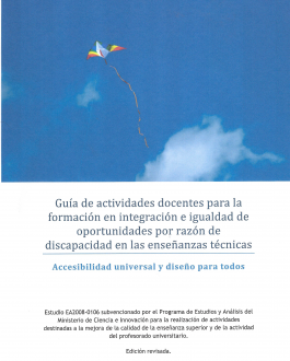 Portada del Libro Guía de actividades docentes para la formación en integración de igualdad de oportunidades por razón de discapacidad en las enseñanzas técnicas