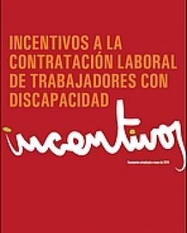 Portada de la guia Incentivos a la contratación laboral de trabajadores con discapacidad