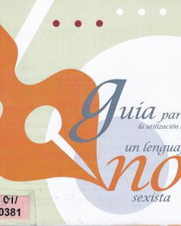 portada Guía para la utilización de un lenguaje no sexísta