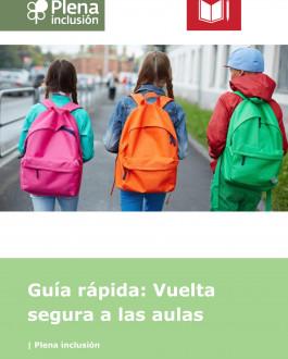 Cubierta Guía rápida: Vuelta segura a las aulas (Lectura Fácil)