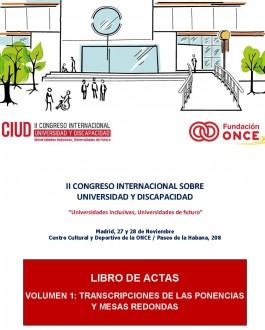 imagen II Congreso Universidad y Discapacidad. Libros de Actas