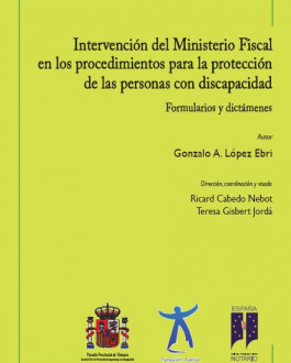 Portada Intervención del Ministerio Fiscal en los procedimientos para la protección de las personas con discapacidad