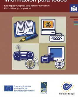 Portada Información para todos. Las reglas europeas para hacer información fácil de leer y comprender