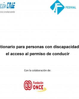 Cuestionario para personas con discapacidad en el acceso al permiso de conducir