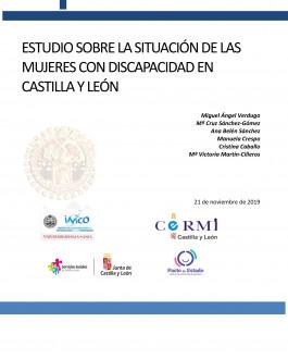 Portada Estudio sobre la situación de las mujeres con discapacidad en Castilla y León