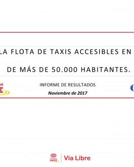 Portada Estado de la flota de taxis accesibles en municipios de más de 50.000 habitantes