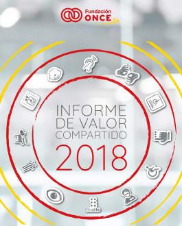 Portada Informe de valor compartido 2018 Fundación ONCE