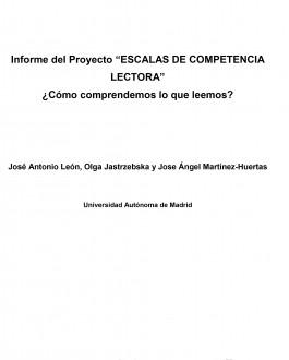 """Portada nforme del Proyecto """"COMPETENCIA LECTORA"""" ¿Cómo comprendemos lo que leemos?"""